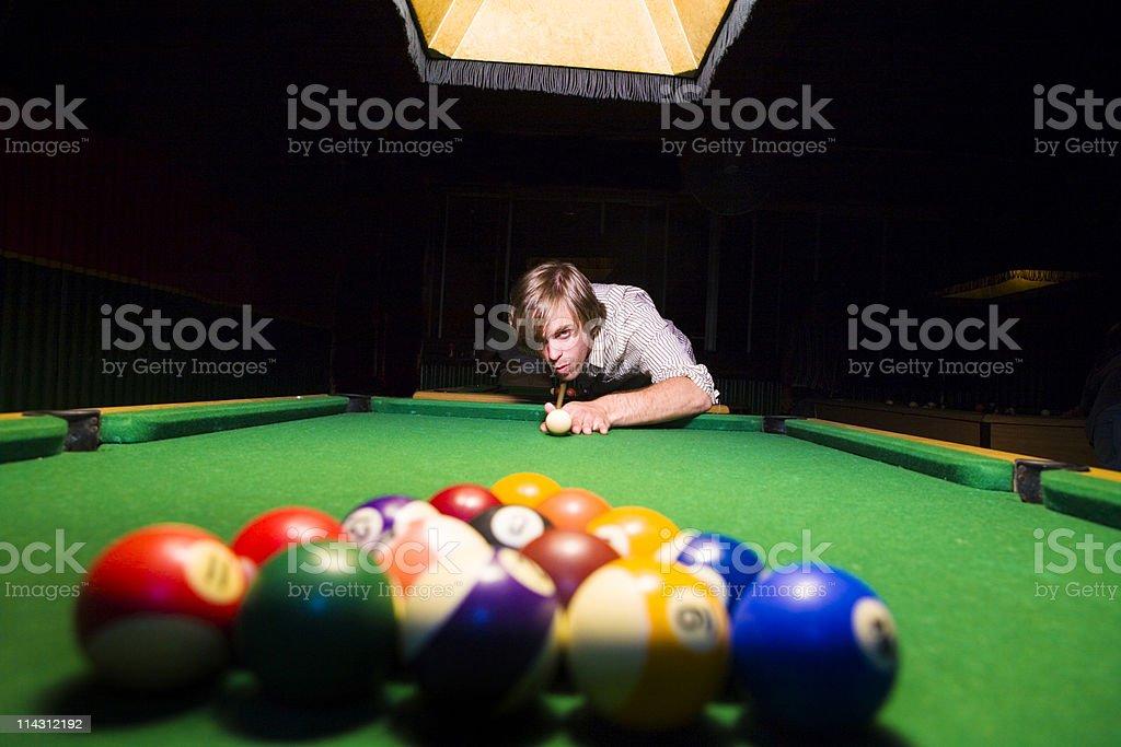 Pool hustler royalty-free stock photo