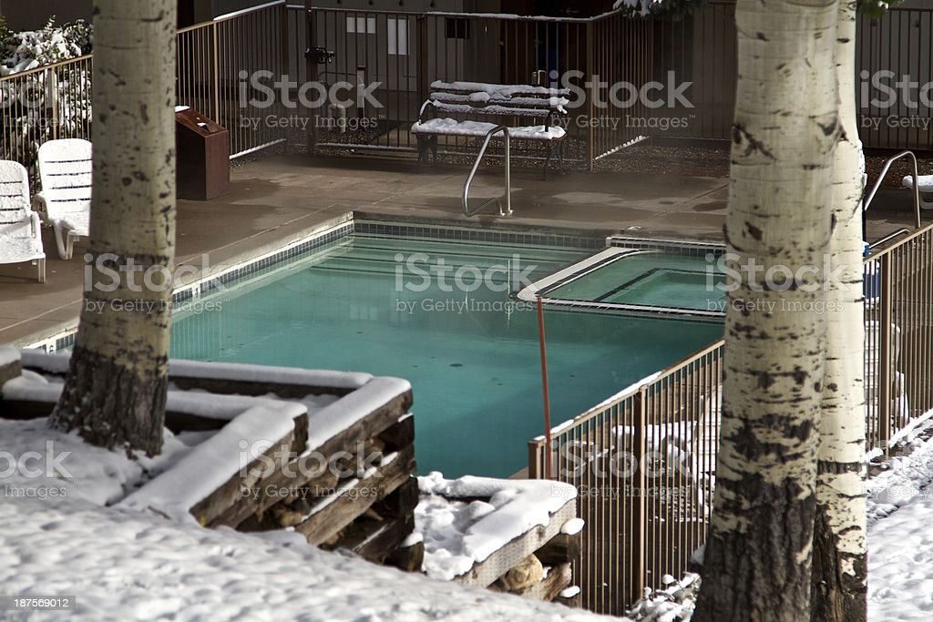 Pool in Snowmass village royalty-free stock photo