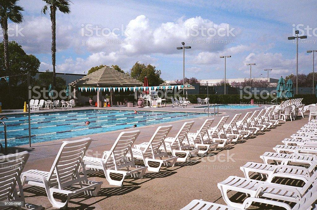 Pool in suburban paradise royalty-free stock photo