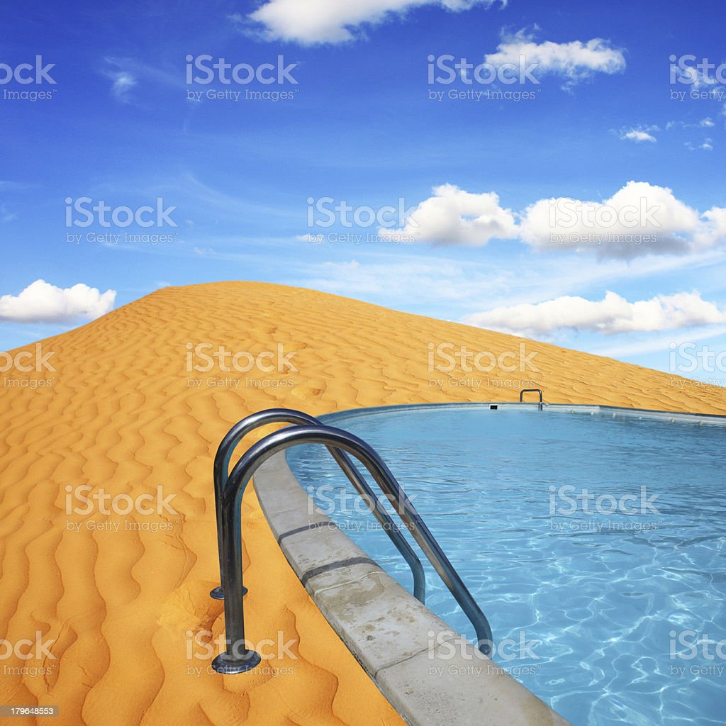 pool in the desert royalty-free stock photo