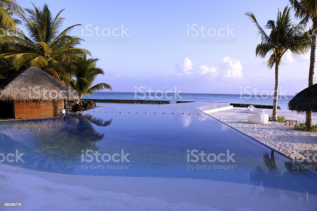 Pool in the Paradies royalty-free stock photo