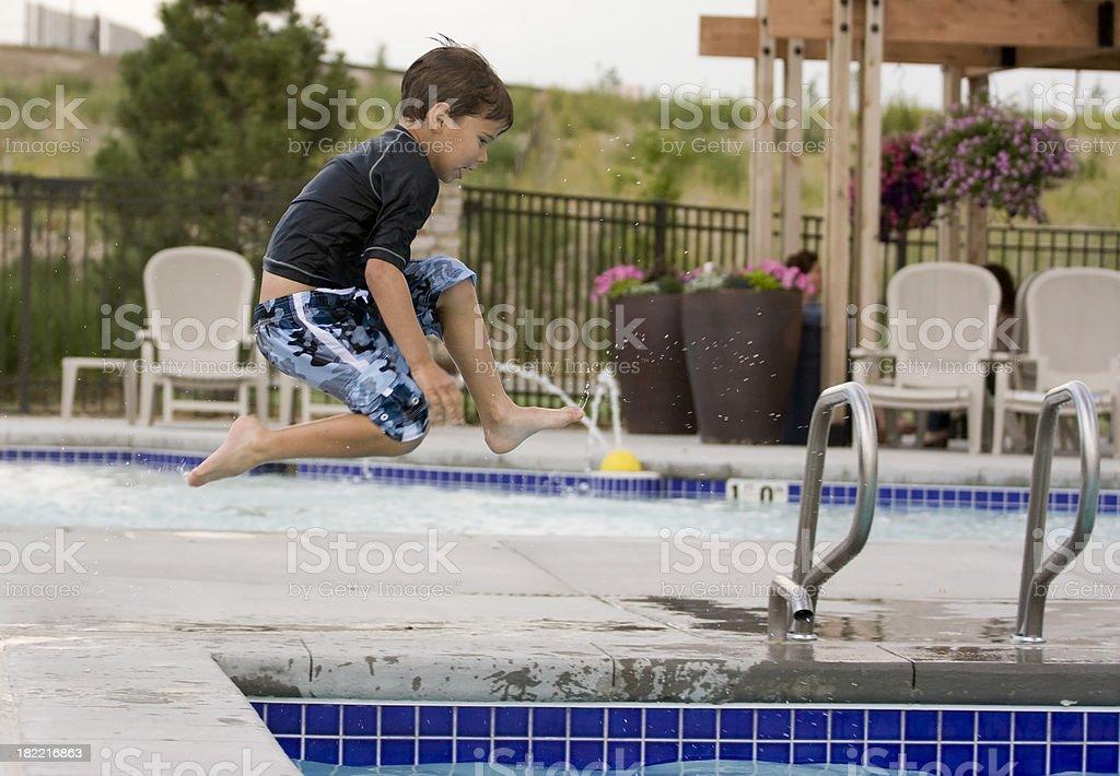 Pool springen – Foto