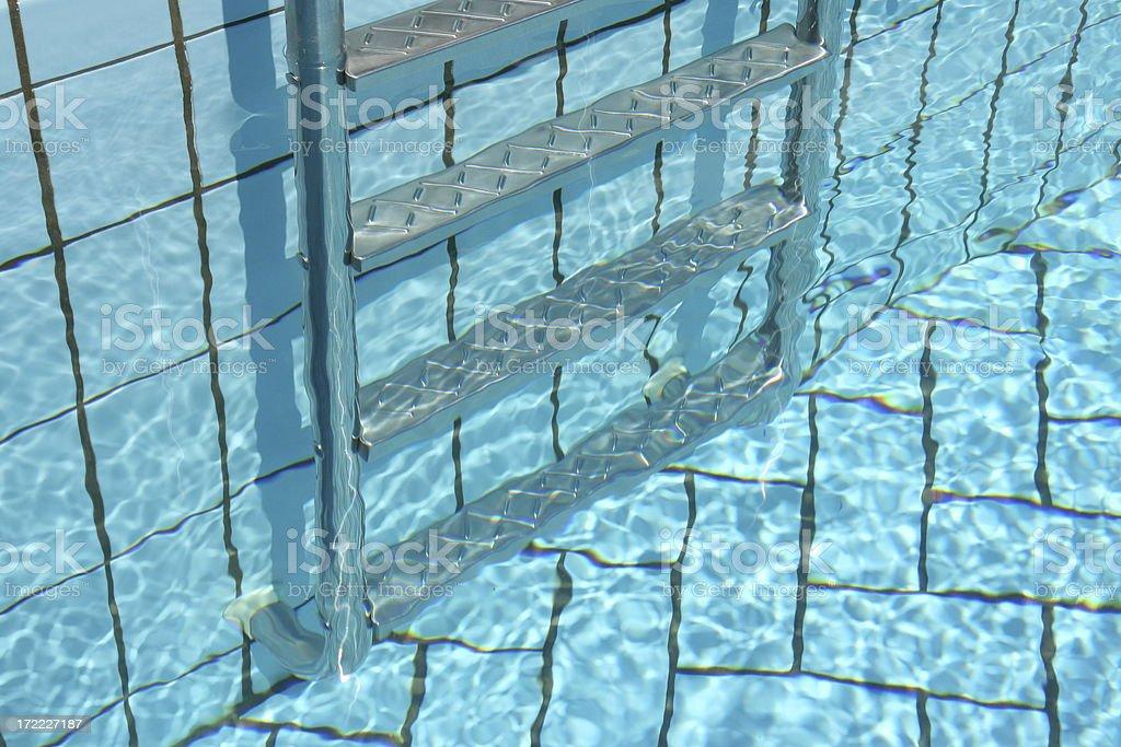 Pool ladder royalty-free stock photo