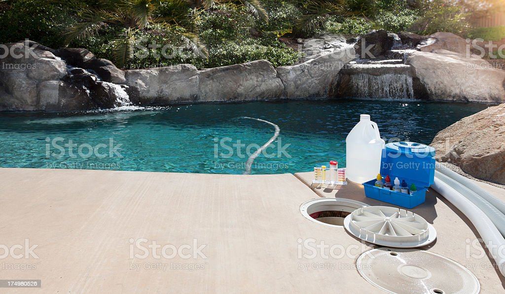 Pool Maintenance stock photo
