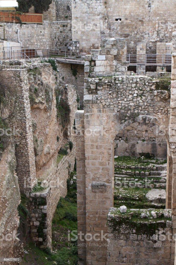 Pool of Bethesda - Jerusalem - Israel stock photo