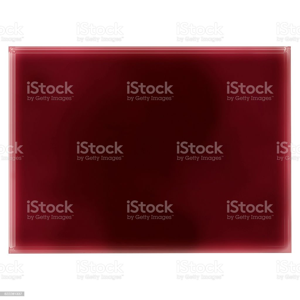 Pool of blood (or wine) shaping Colorado.(series) stock photo