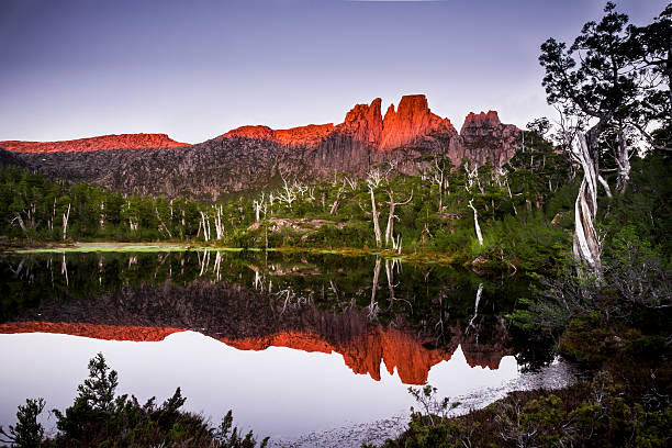 pool of memories. - cradle mountain stock photos and pictures