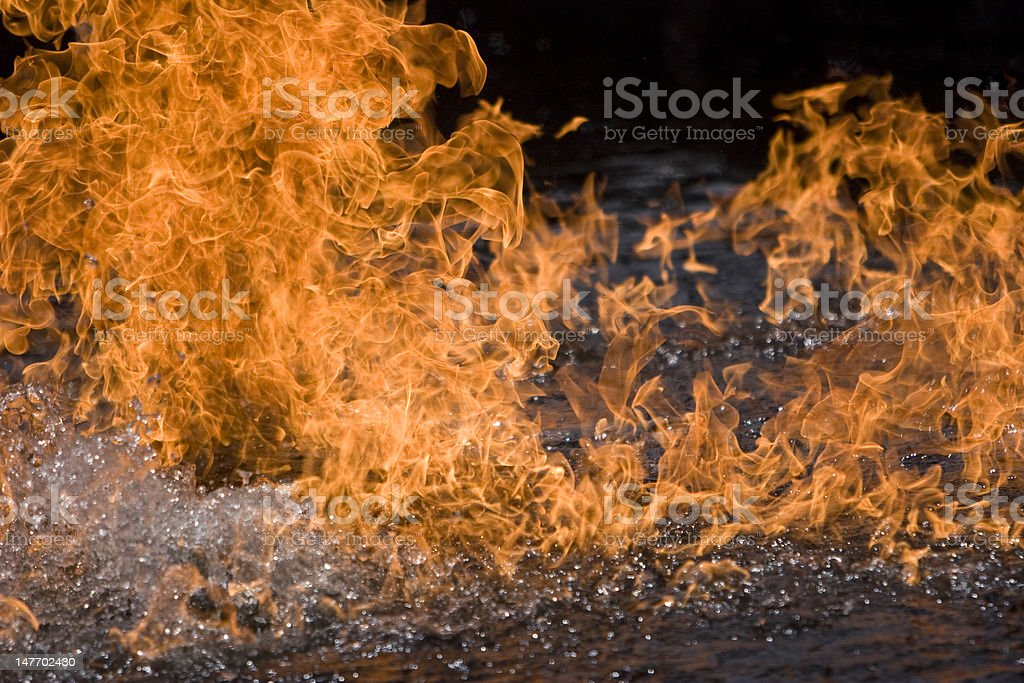 Pool of water on flame royalty-free stock photo