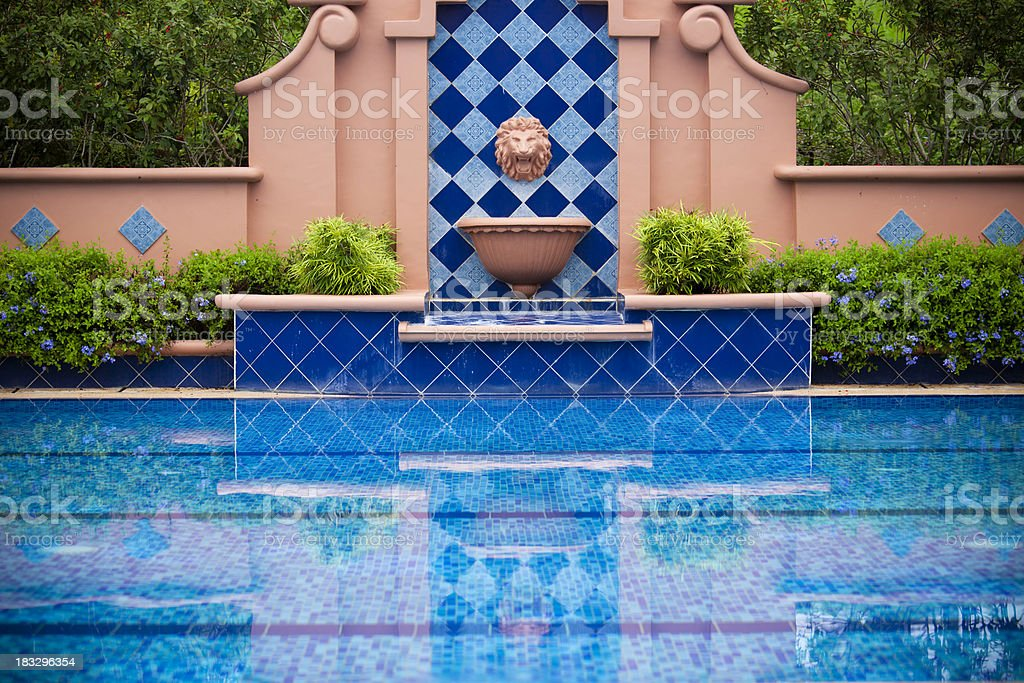 Pool of water royalty-free stock photo