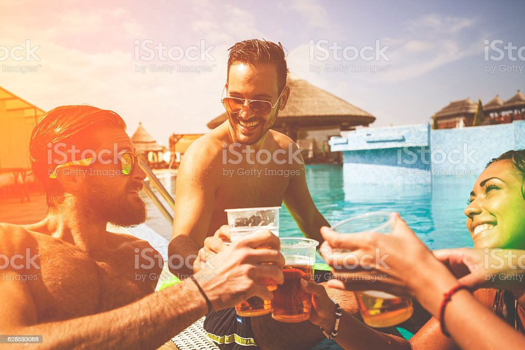 Pool Party stock photo