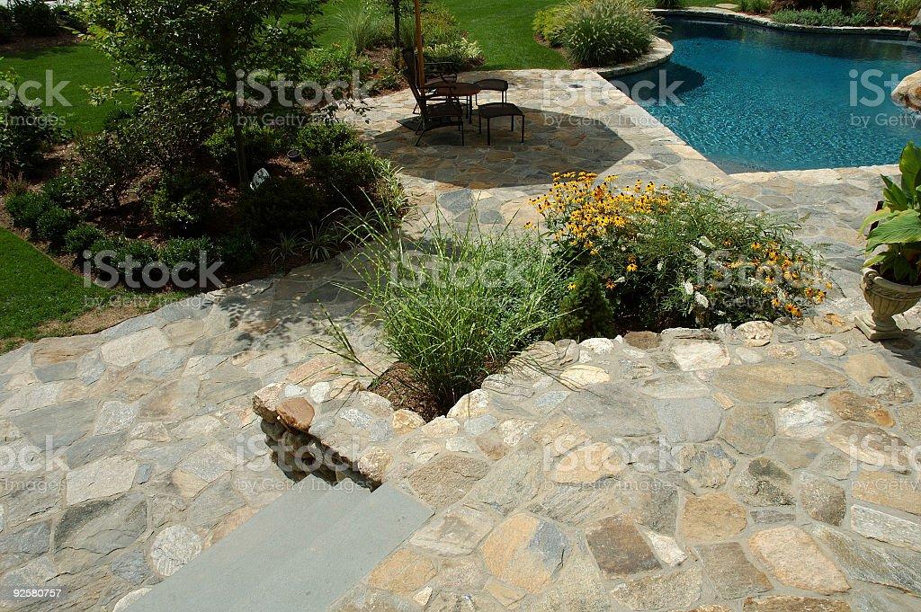 Pool Patio royalty-free stock photo