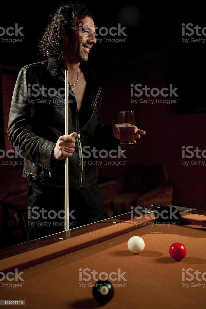 Jogador de piscina - foto de acervo