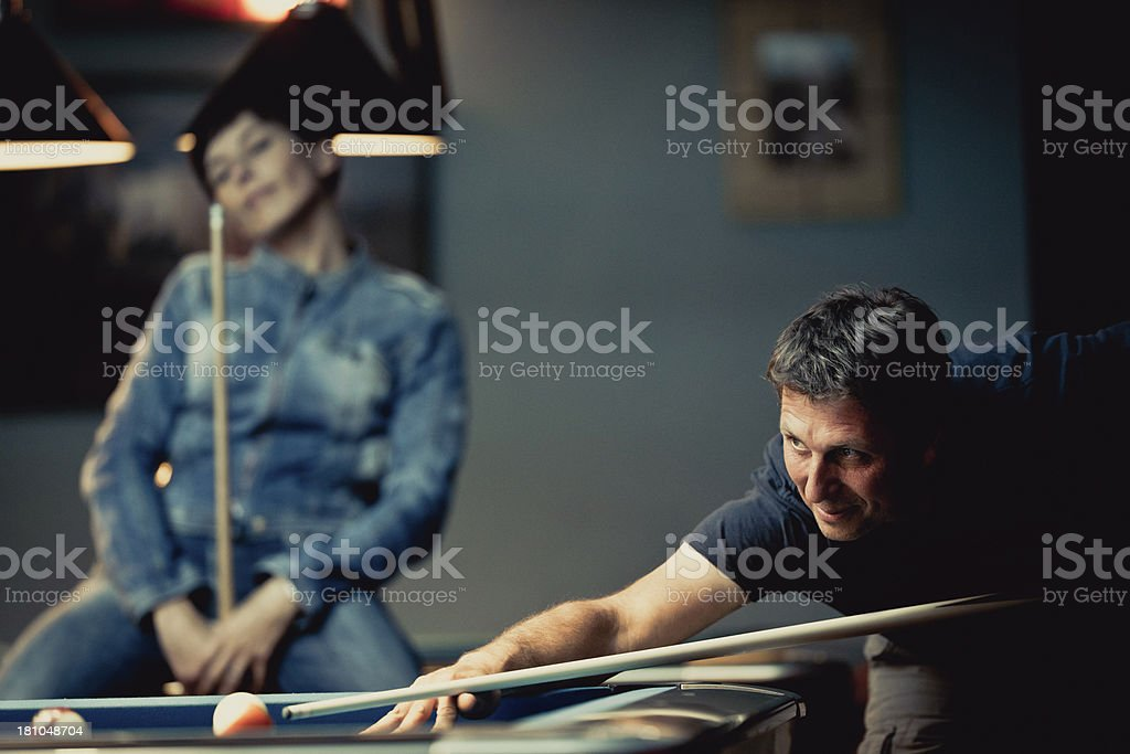 Pool player royalty-free stock photo