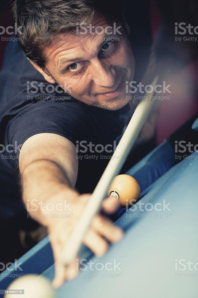 Pool player stock photo