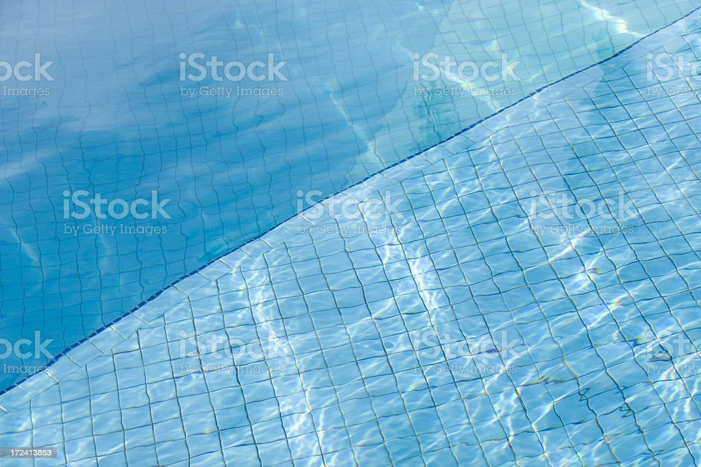 Pool reflections royalty-free stock photo