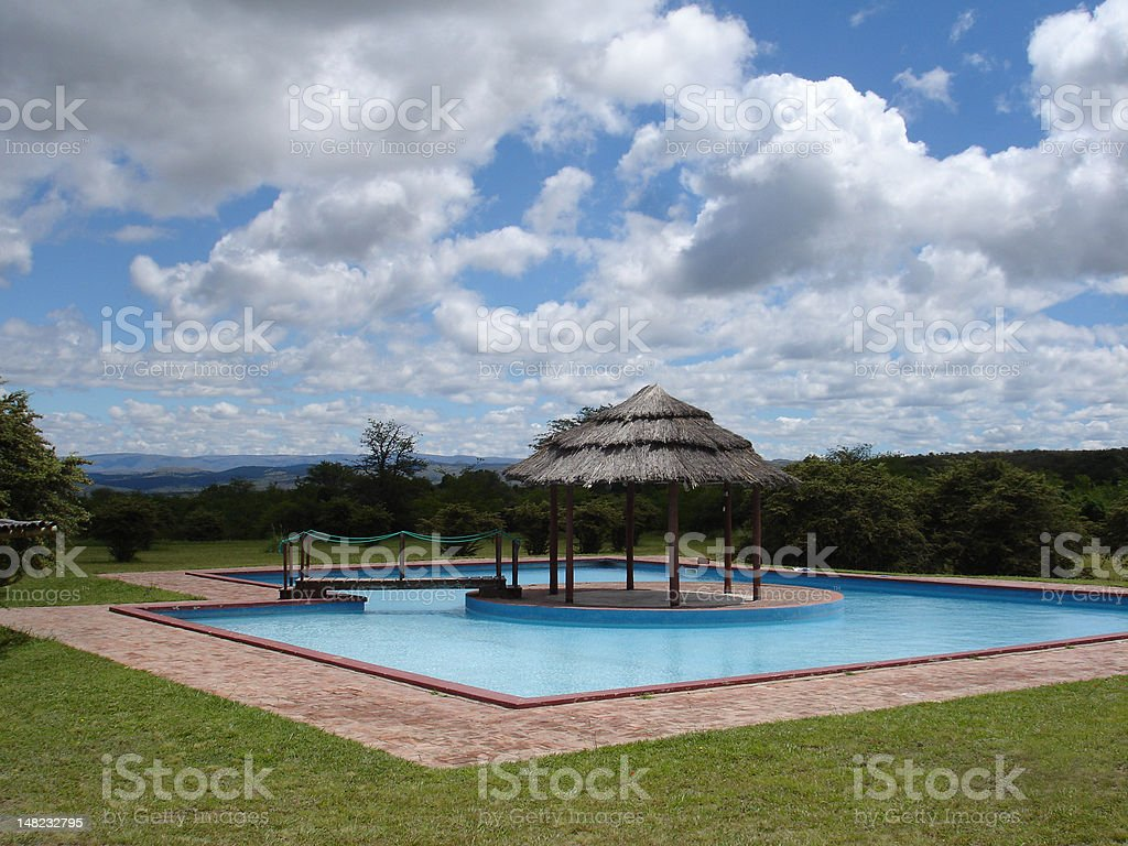 Pool Relax royalty-free stock photo