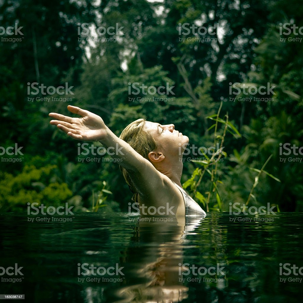 Pool Relaxation royalty-free stock photo