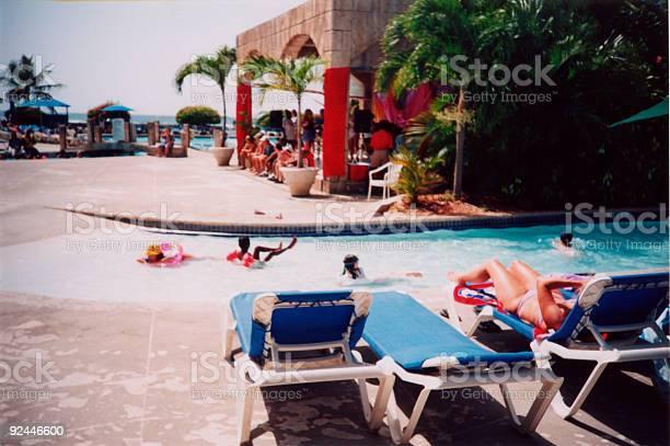 pool scene in Jamaica