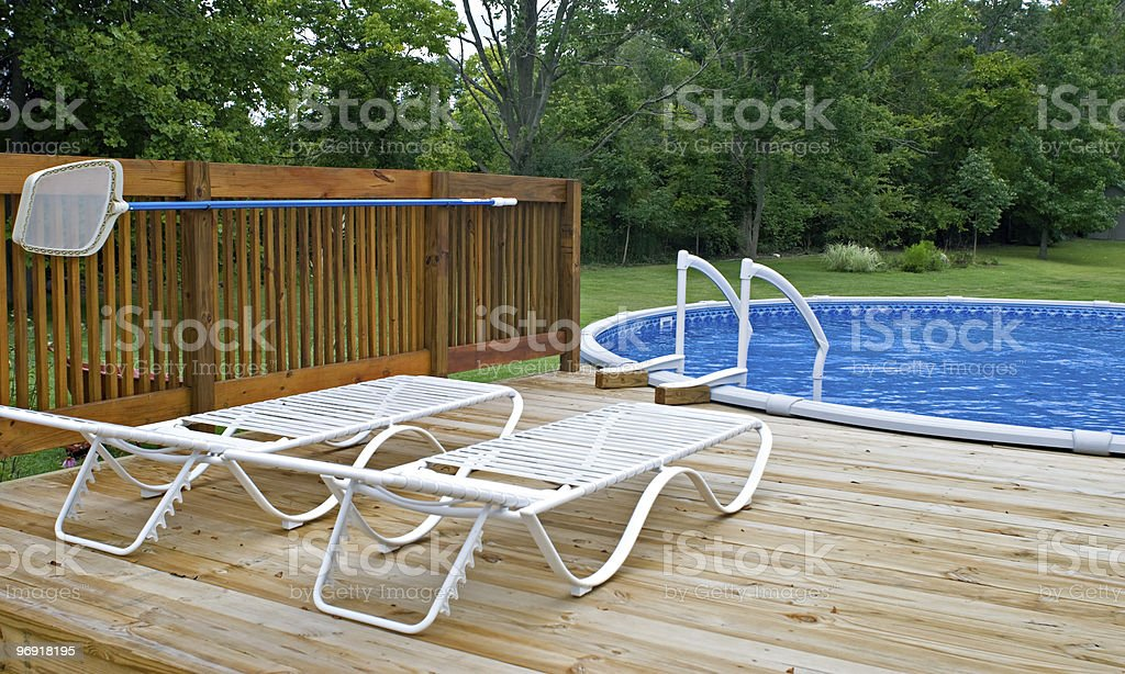 Pool Side Deck royalty-free stock photo