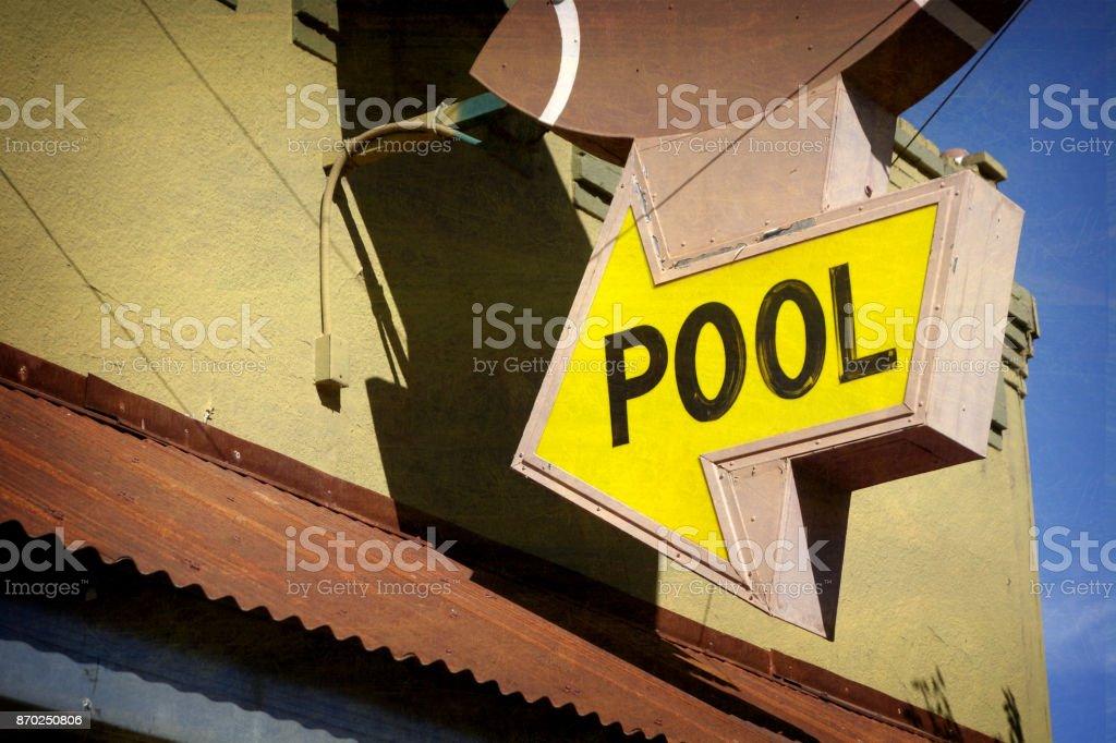 pool sign on tavern stock photo