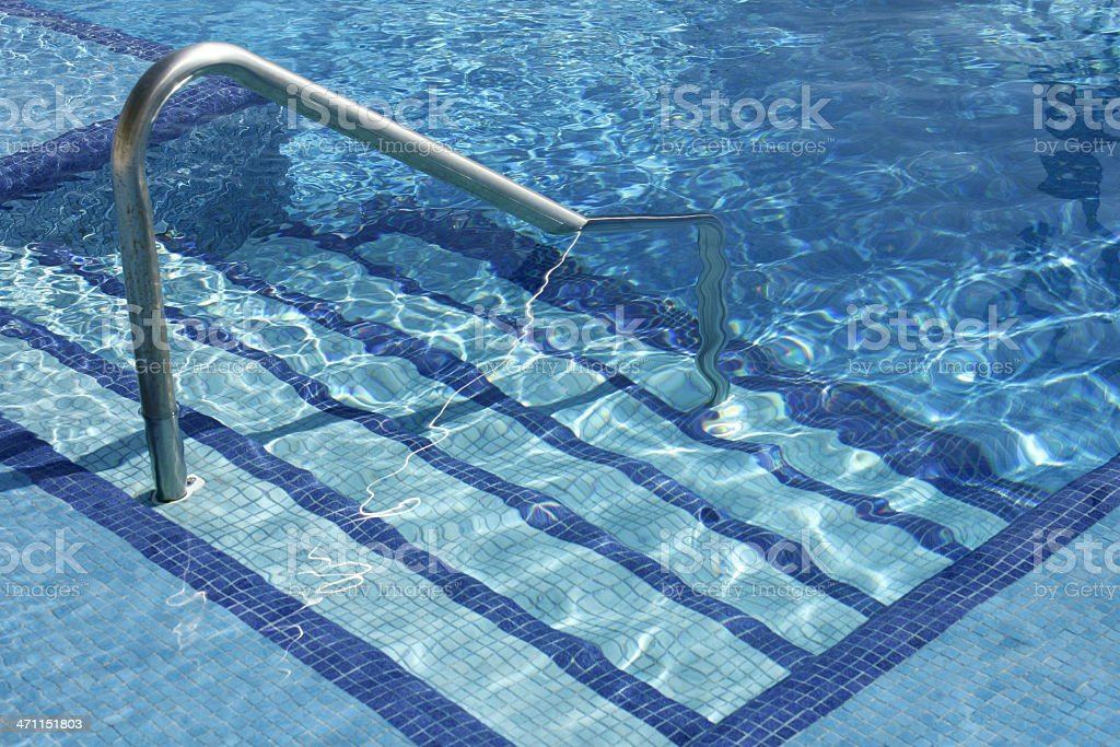 Pool Stairs stock photo