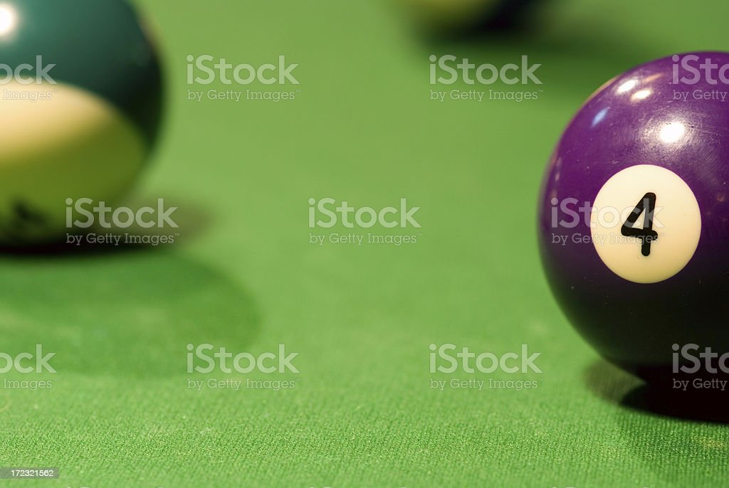 Pool Table - 4 Ball royalty-free stock photo