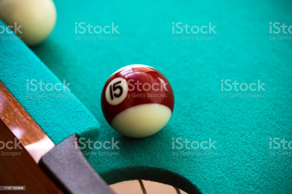 Pool table and ball - Royalty-free Accuracy Stock Photo