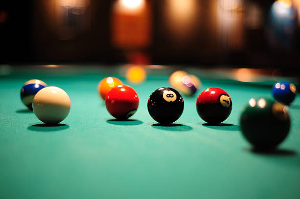 pool table - cue ball stock pictures, royalty-free photos & images