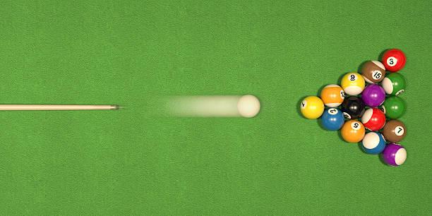pool table - filzkugeln stock-fotos und bilder