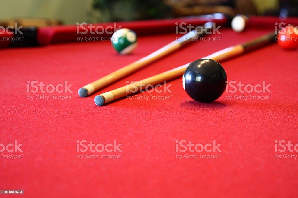 Pool Table stock photo