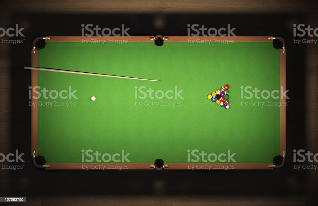 ... A Pool Table With Untouched Balls Stock Photo ...