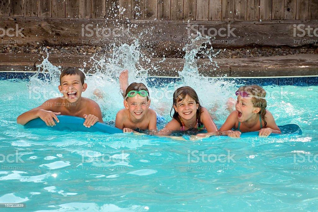 Pool Time stock photo