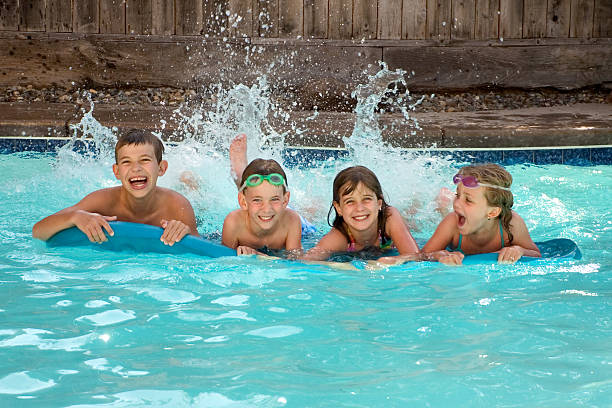 pool time - gchutka stock pictures, royalty-free photos & images