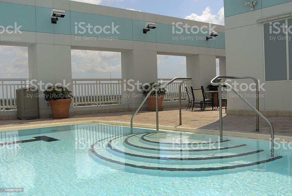Pool View royalty-free stock photo