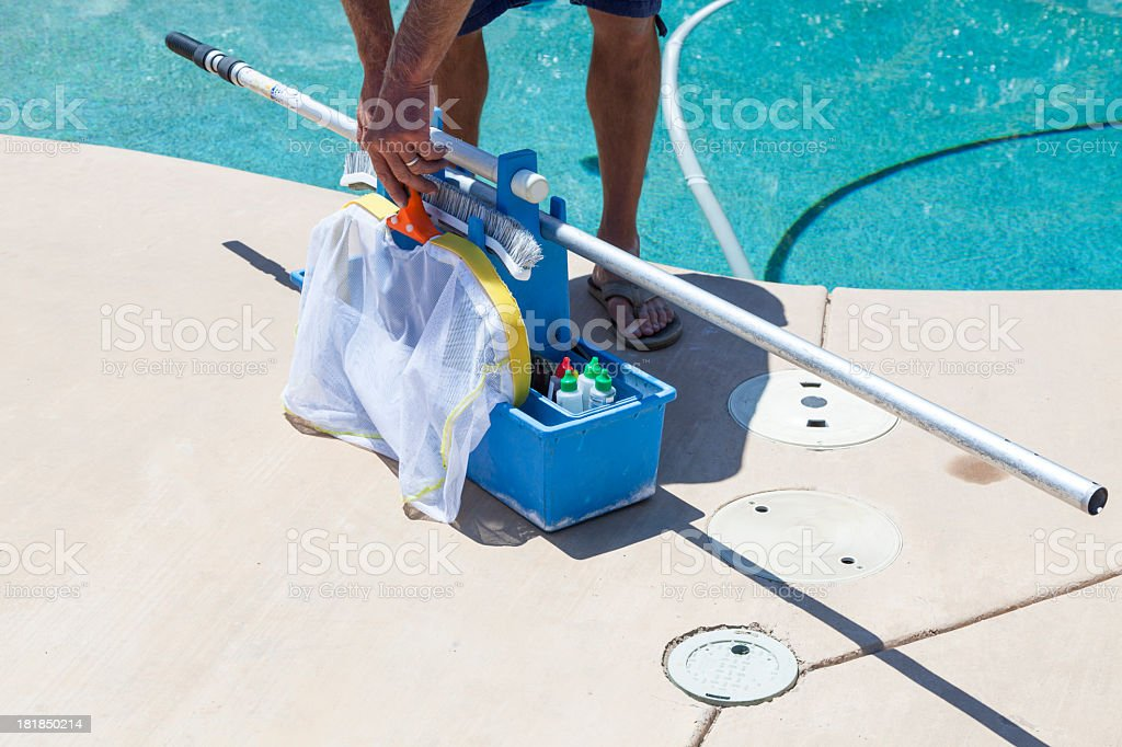 Pool Water Quality royalty-free stock photo