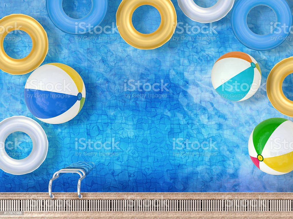 pool with toys foto