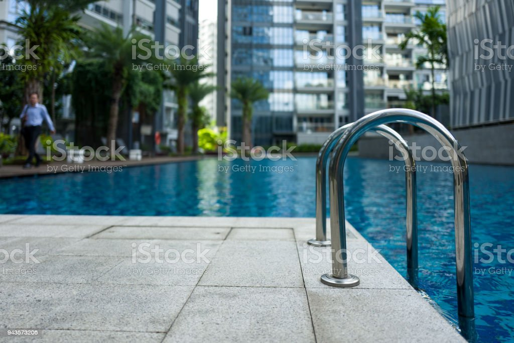 A Pool with Water in Singapore stock photo