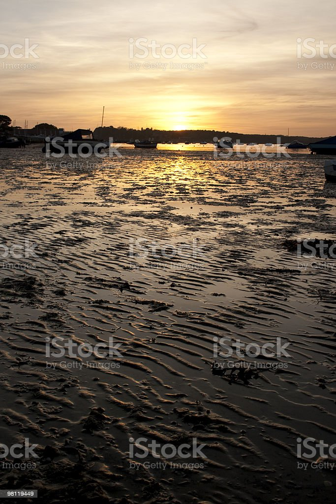 poole harbour sunset view royalty-free stock photo