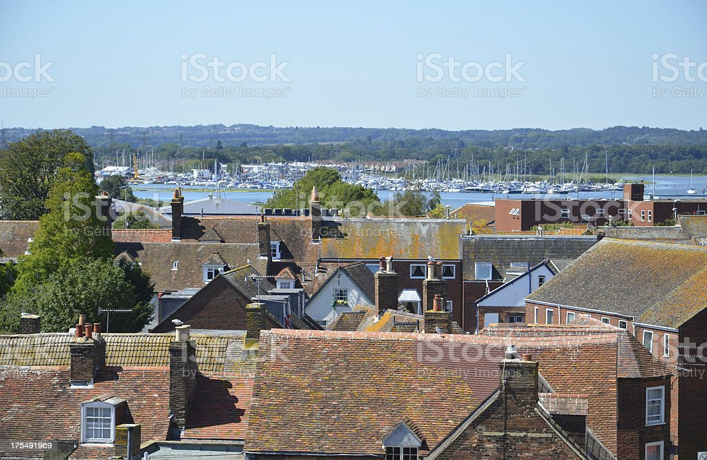 Poole Skyline and Harbour stock photo