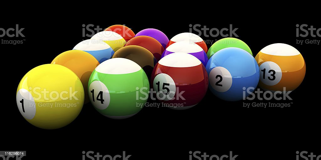 Pools Balls Isolated royalty-free stock photo