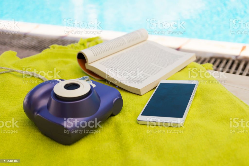 Poolside and Smartphone
