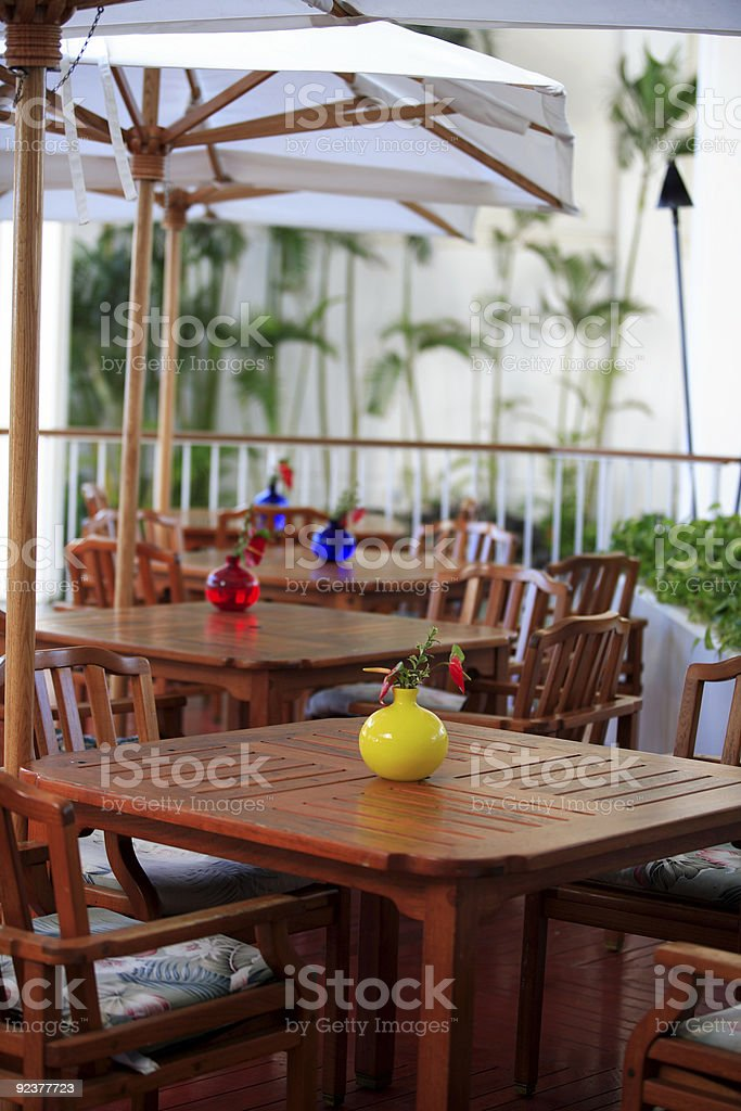 Poolside Cafe royalty-free stock photo