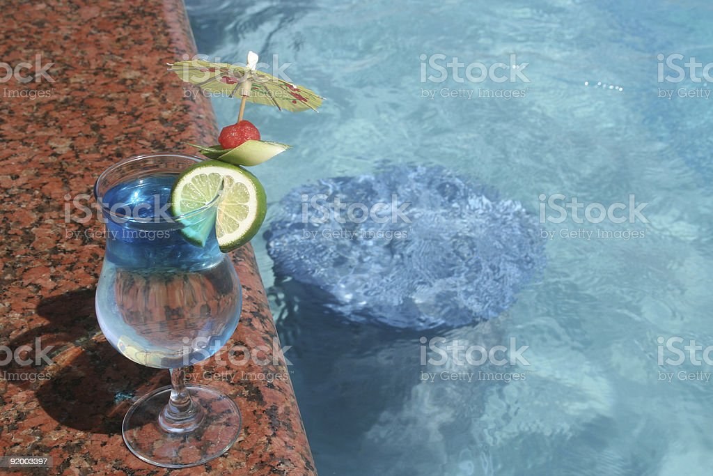 Poolside drink stock photo
