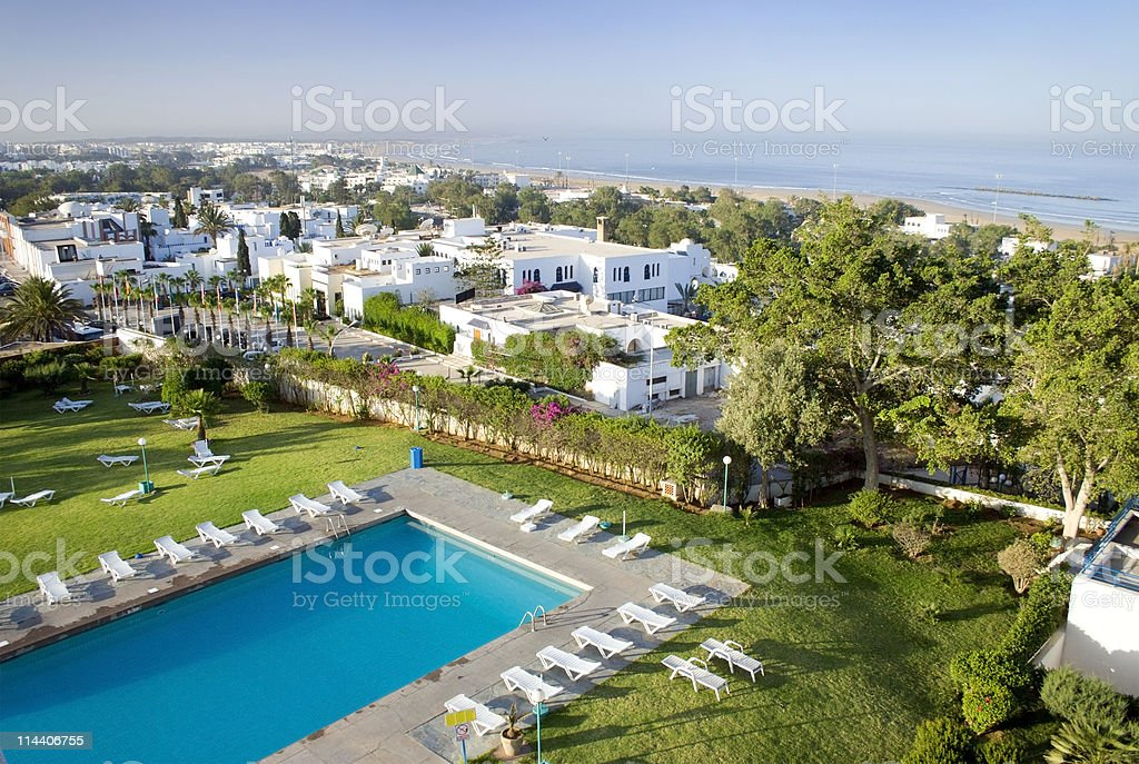 Poolside in Agadir stock photo