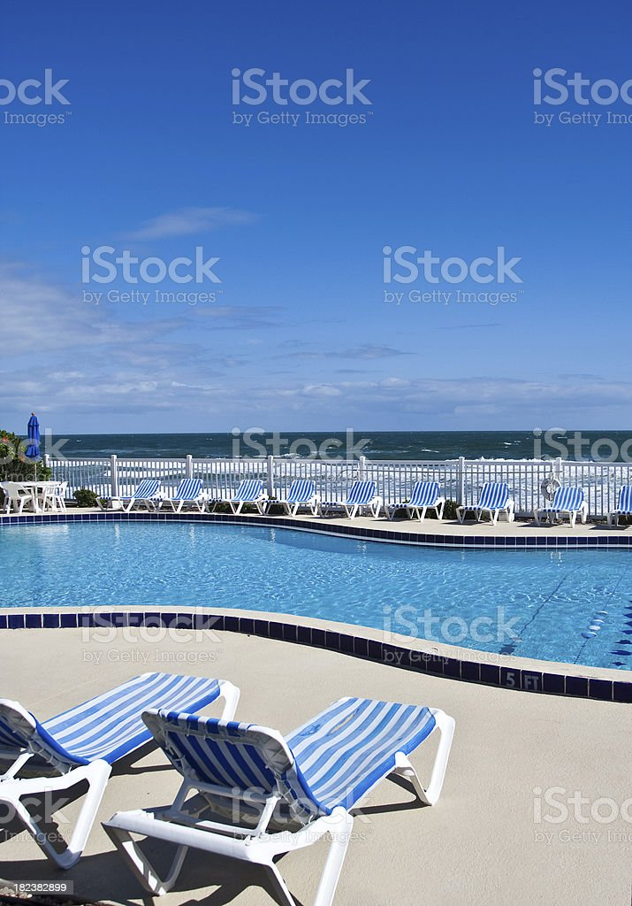 Poolside Lounge Chair royalty-free stock photo