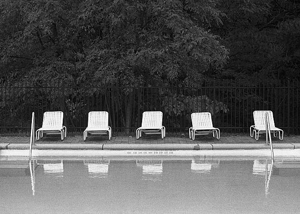 Poolside Lounge Chairs, Empty