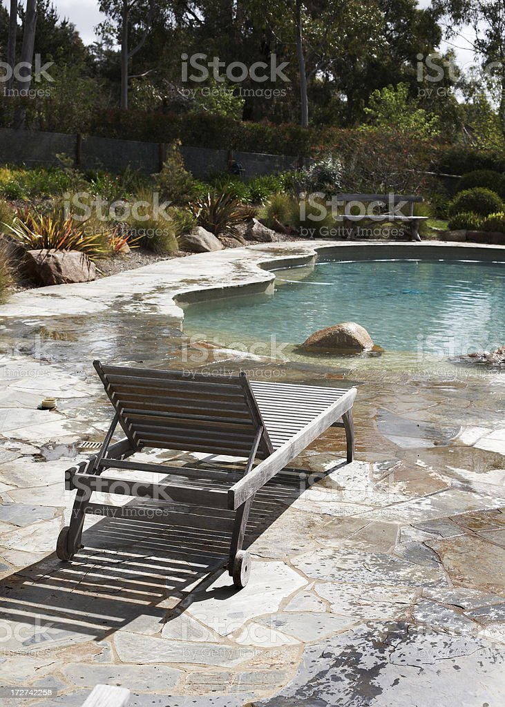 Poolside lounge royalty-free stock photo