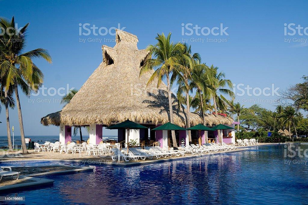 Poolside restaurant royalty-free stock photo