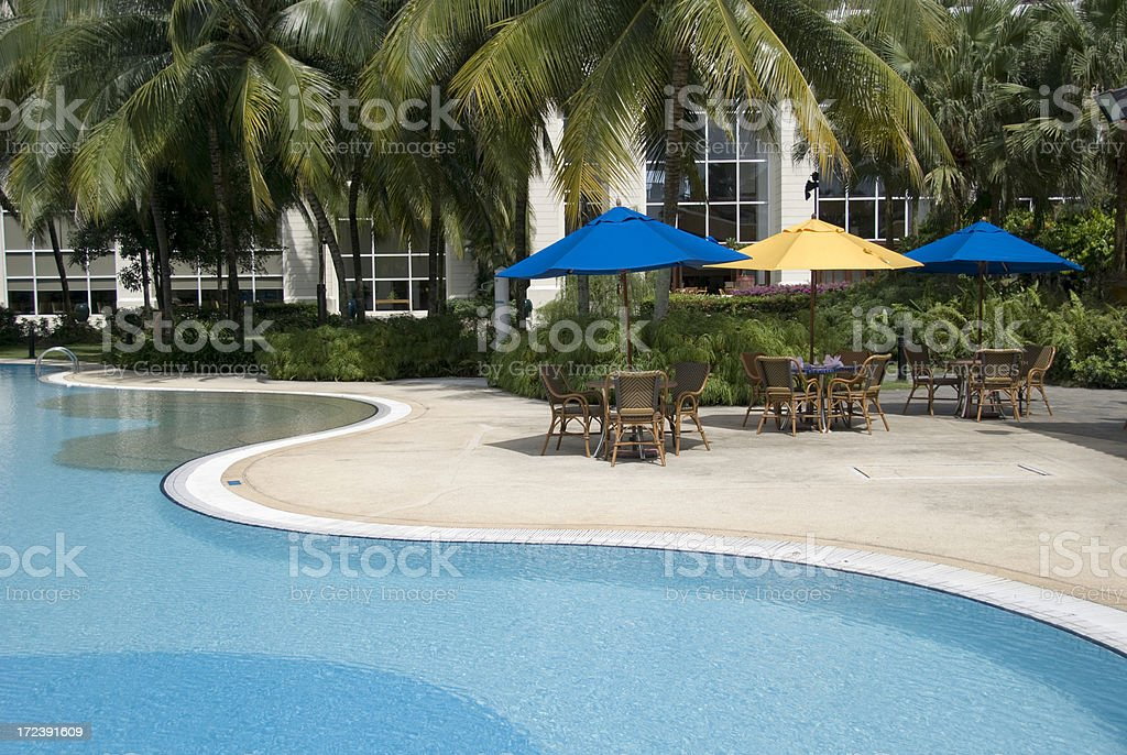 Poolside restaurant royalty-free stock photo