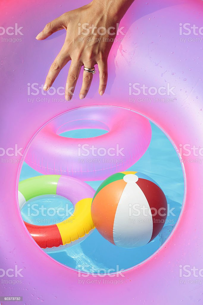 Poolside Summer Toyd royalty-free stock photo